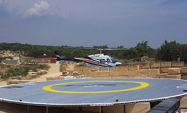 « First French composite heliport »